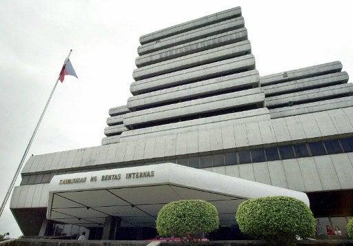 The headquarters of the Bureau of Internal Revenue (BIR). AFP FILE PHOTO